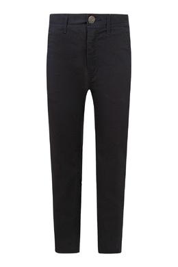 Черные брюки с завышенной талией Tommy Hilfiger Kids 2646164018