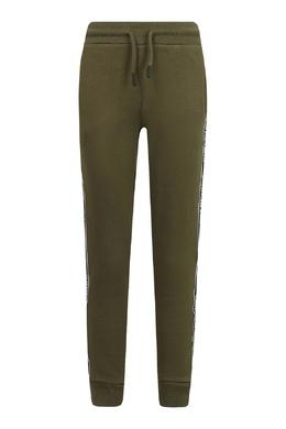 Темно-зеленые спортивные брюки с эластичным поясом Calvin Klein Kids 2815164203