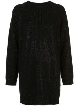 Rta платье-трапеция с вышивкой пайетками WH9696040BLKS