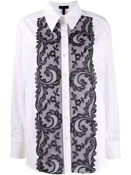 Escada рубашка свободного кроя с кружевом 5031981