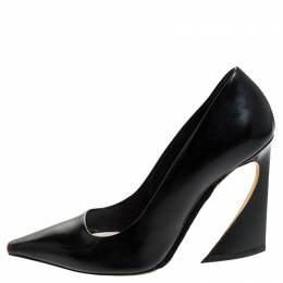 Dior Black Leather Square Toe Pumps Size 39.5 242531