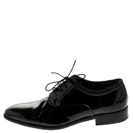 Salvatore Ferragamo Black Patent Leather Aiden Oxfords Size 43 242757