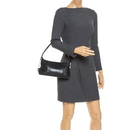 Mont Blanc Black Leather Top Zip Shoulder Bag Montblanc 238698