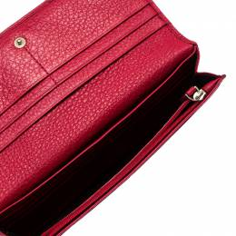 Aigner Red Leather Continental Wallet 238935
