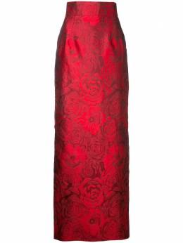 Bambah жаккардовая юбка с принтом роз S17RJ001