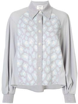 Onefifteen блузка с контрастной вставкой AW1902