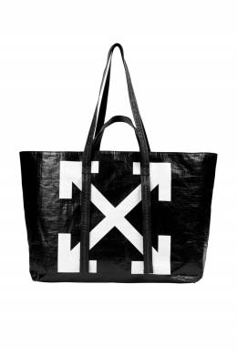 Черная сумка с символом бренда Off-White 2202165148