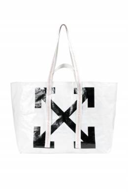 Белая сумка с символом бренда Off-White 2202165146