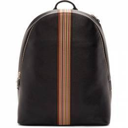 Paul Smith Black Leather Signature Stripe Backpack M1A-5419-A40009