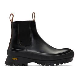 Jil Sander Black Rubber Sole Boots JP33010A 11142