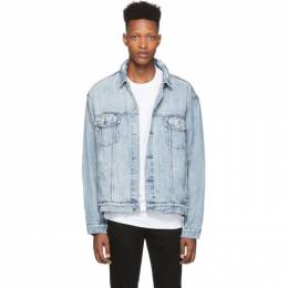 Ksubi Blue Denim Oh G Acid Trip Trash Jacket 1000064292