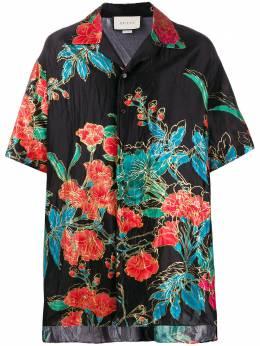 Gucci рубашка оверсайз с цветочным принтом 574559ZABVD