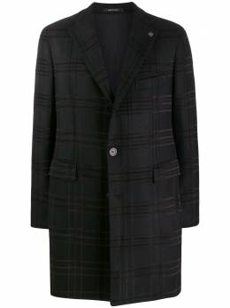 Tagliatore однобортное пальто в клетку CSBM13B34QIC265