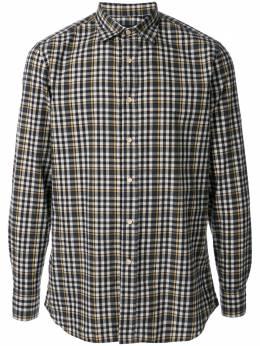 Lardini клетчатая рубашка с косым воротником ILOSCARILC1128
