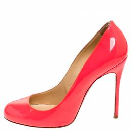 Christian Louboutin Neon Pink Patent Leather Fifille Pumps Size 37