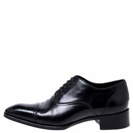Tom Ford Black Leather Lace Up Oxfords Size 44 243290