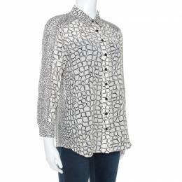 Proenza Schouler Cream Printed Silk Button Front Shirt M 243058