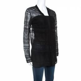 M Missoni Black Knitted Long Sleeve Cardigan M 241655