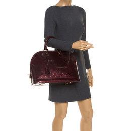 Louis Vuitton Amarante Monogram Vernis Alma GM Bag 240030