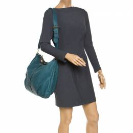 Louis Vuitton Lagon Monogram Mahina Leather Selene MM Bag 239218