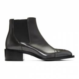 Fendi Grey Karligraphy Chelsea Boots 7U1265 A8PD