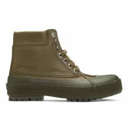 Jacquemus Khaki Les Meuniers Hautes Boots 196FO02