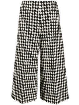 Gucci укороченные брюки в ломаную клетку 595248ZACKI