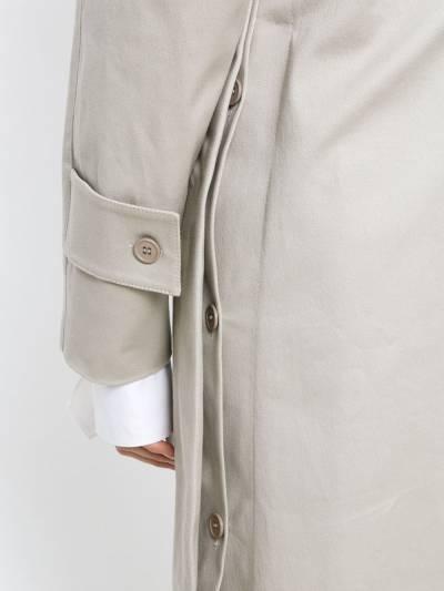 Gloria Coelho side slits cape coat I18O010 - 5