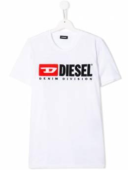 Diesel Kids футболка с вышитым логотипом 00J47V00YI9