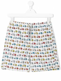 Mc2 Saint Barth Kids TEEN vespa print swimming shorts JEANLIGHTING