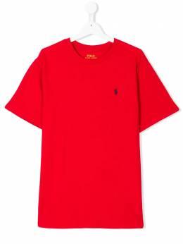 Ralph Lauren Kids футболка с вышитым логотипом 323674984