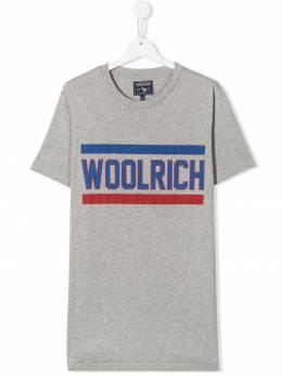 Woolrich Kids футболка с логотипом WKTEE1261UT1486