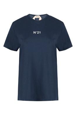 Синяя футболка из хлопка No. 21 35165347