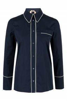 Синяя рубашка с белой тесьмой No. 21 35165320