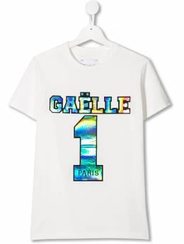 Gaelle Paris Kids футболка с логотипом 2731M0032