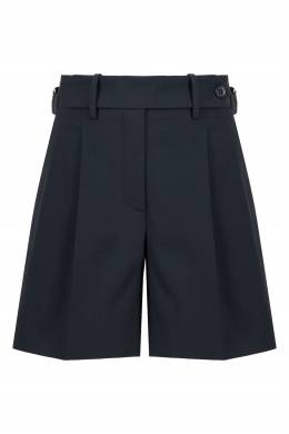 Темно-синие шорты с защипами Red Valentino 986165454