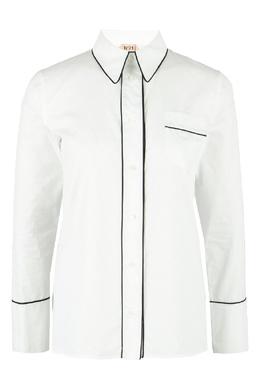 Белая рубашка с черной тесьмой No. 21 35165319