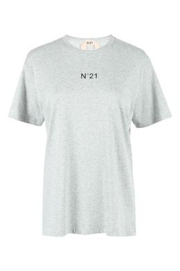 Серая футболка из хлопка No. 21 35165364