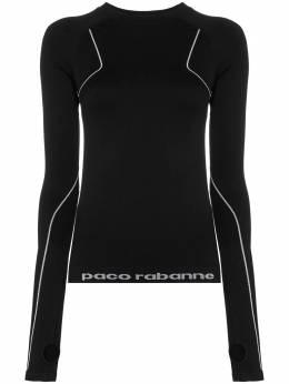 Paco Rabanne топ для бега с логотипом 19EJTO006PA0135