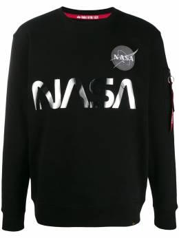 Alpha Industries толстовка с логотипом NASA 178309