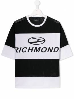 John Richmond Junior футболка в стиле колор-блок 'Richmond' RBP19002TSNW