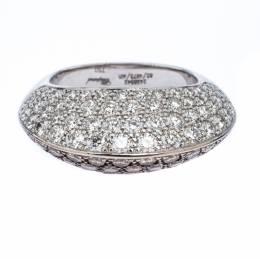 Chopard Diamond Brown Diamond 18K White Gold Knife Edge Cocktail Ring Size 54.5 243867