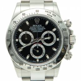 Rolex Black Dial Cosmograph Daytona Stainless Steel Men'S Watch 40MM 244111
