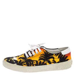 Saint Laurent Multicolor Floral Canvas Low Top Sneakers Size 39.5 243595