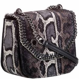 Stella McCartney Brown Snakeskin Falabella Box Bag