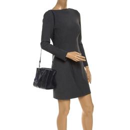 Coach Navy Patchwork Leather Mini Crossbody Bag