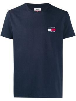 Tommy Jeans футболка с вышитым логотипом DM0DM06595