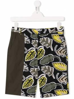 Stella McCartney Kids шорты с пальмовым принтом 539384SMK50