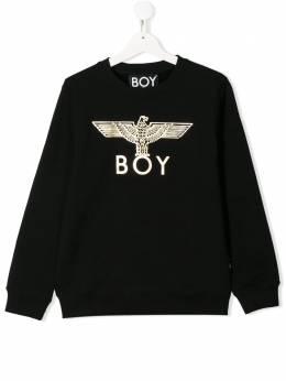 Boy London Kids толстовка с металлизированным логотипом EAGLEKIDSSWEAT