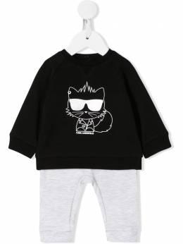 Karl Lagerfeld Kids пижамный комплект с принтом Choupette Z98048